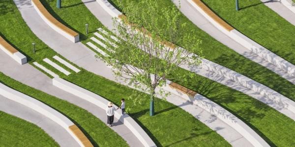 Grass amphitheater